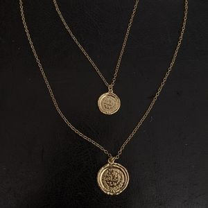 Beautiful Double-Layered Coins Necklace